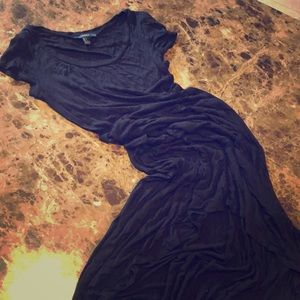 Black high low summer dress